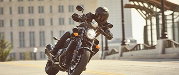Action Image of a Yamaha Bolt